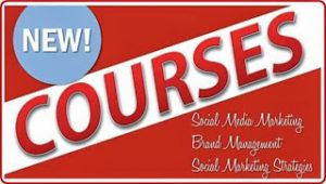 New Courses ad for social media courses