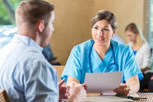 Nurse in an interview