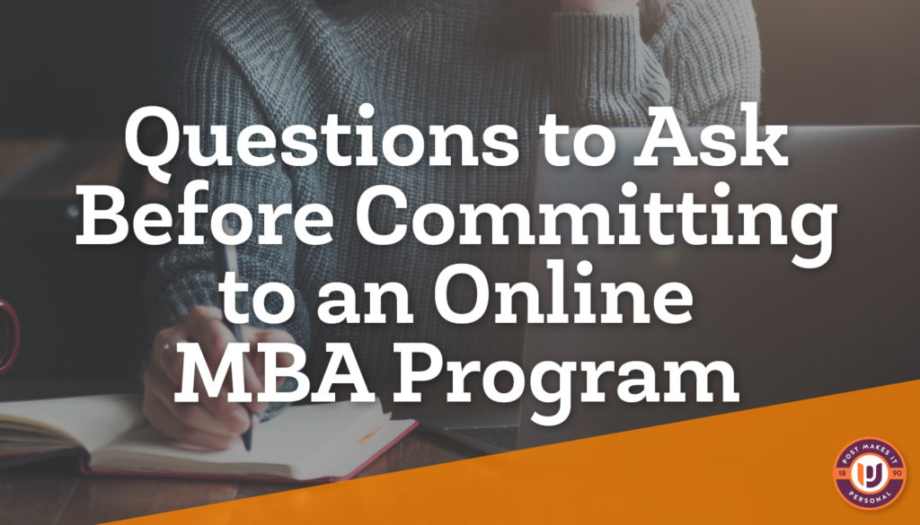 Questions to Ask Before Committing to an Online MBA