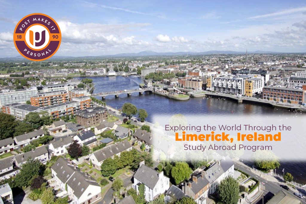 Aerial shot of Limerick, Ireland