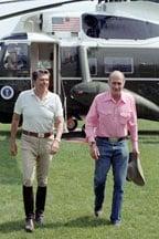 Baldrige and President Reagan
