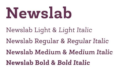 newslab typeface