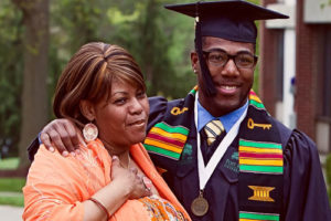 Mother with Son at graduation