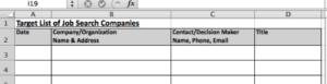 Spreadsheet Screenshot for Step 1