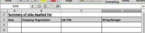 Spreadsheet Screenshot for Step 3