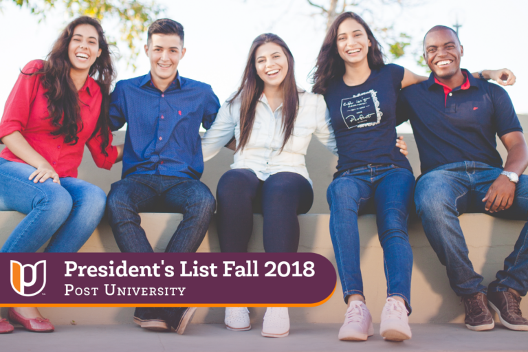 President's List – Fall 2018 | Post University