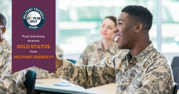 Post University Named a Military Friendly School® with 'Gold Status'
