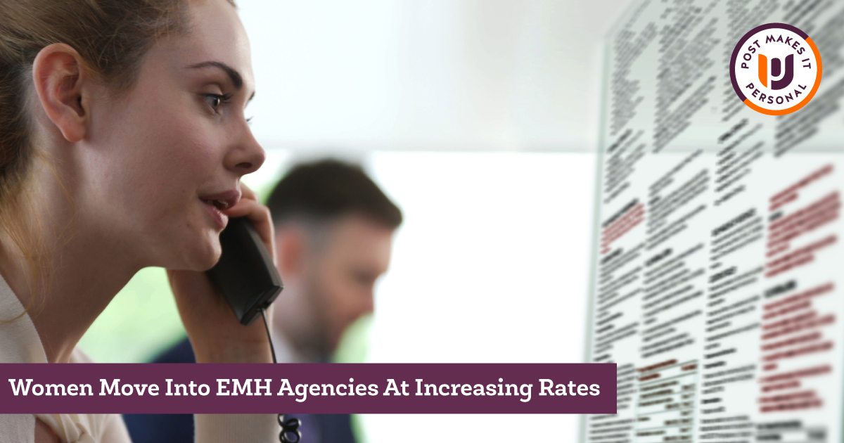 Women Move Into EMH Agencies at Increasing Rates