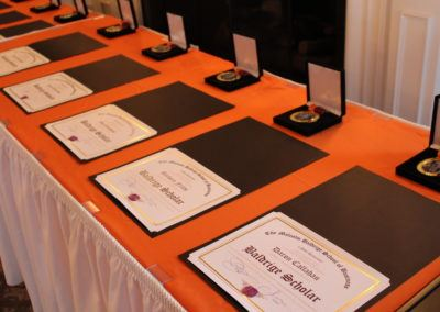 Post University Baldrige ScholarsMedals and certificates