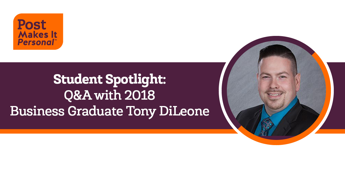 Student Spotlight: Q&A with 2018 Business Graduate Tony DiLeone
