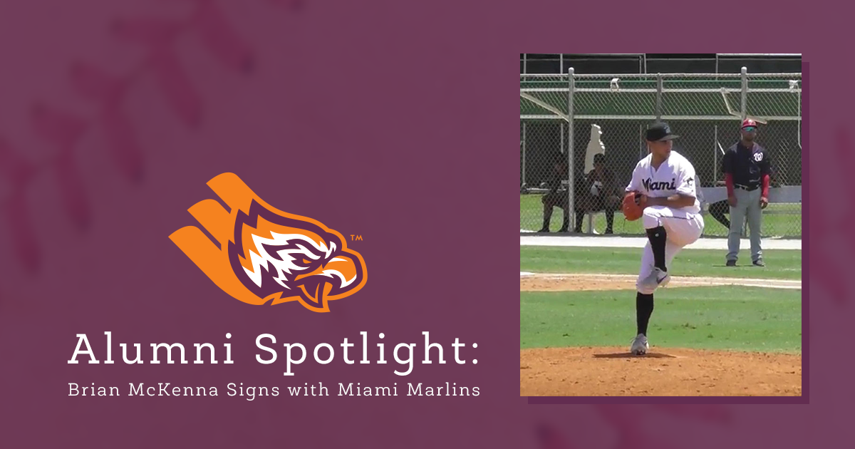 Alumni Spotlight: Brian McKenna signs with Miami Marlins