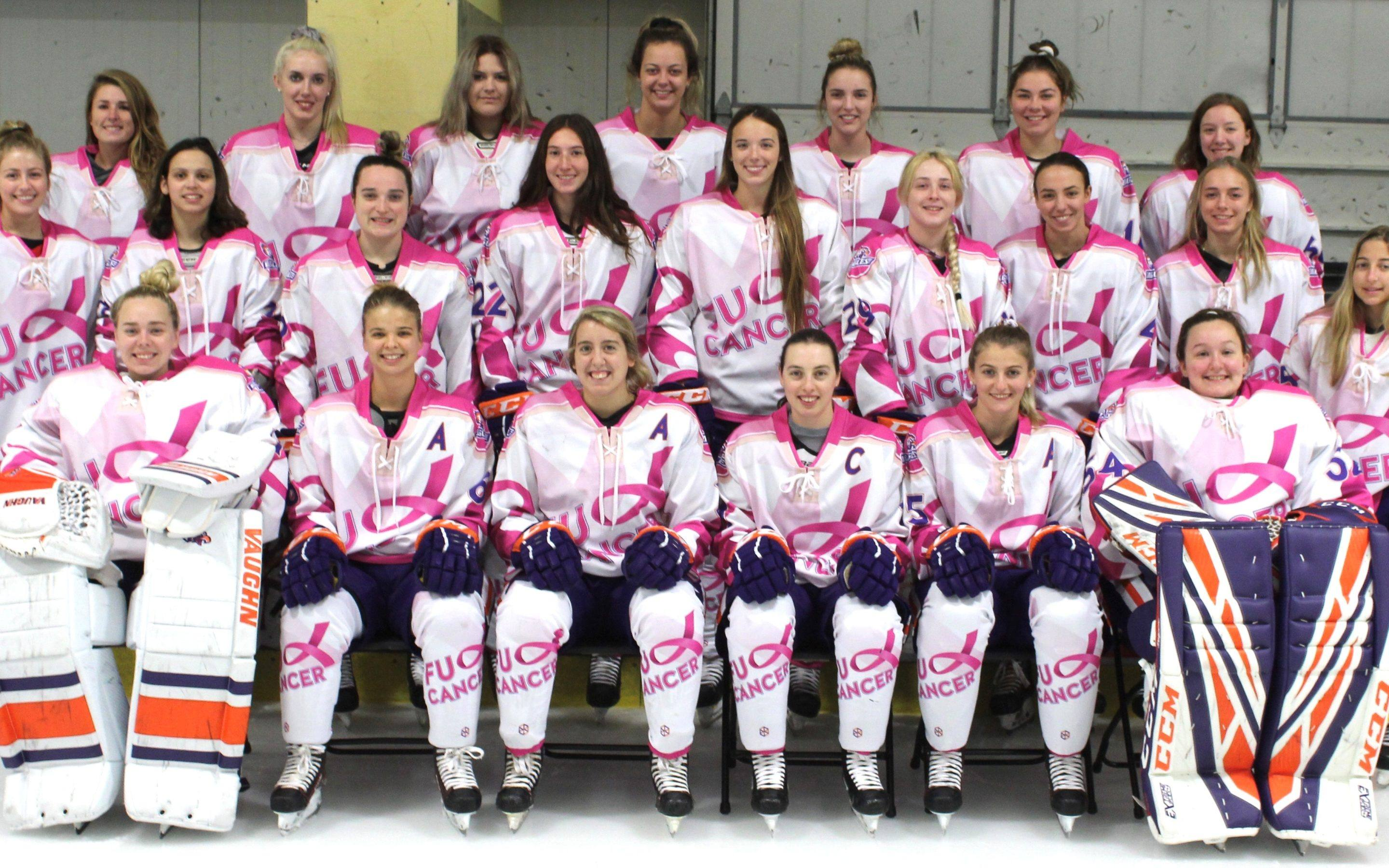Post Women's Hockey Takes on Breast Cancer in Fundraiser Game