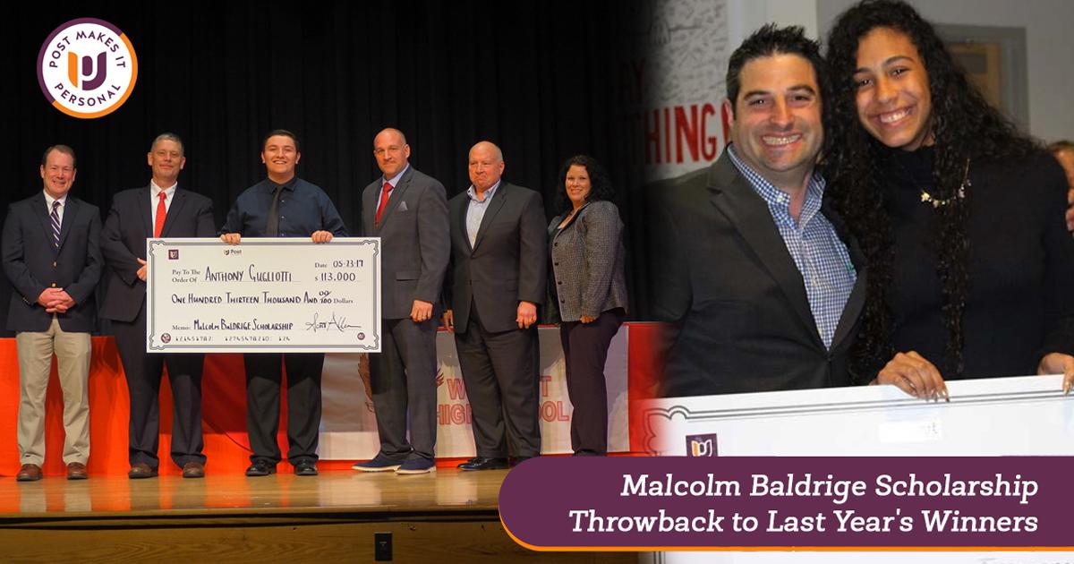 Malcolm Baldrige Scholarship: Last Year's Winners