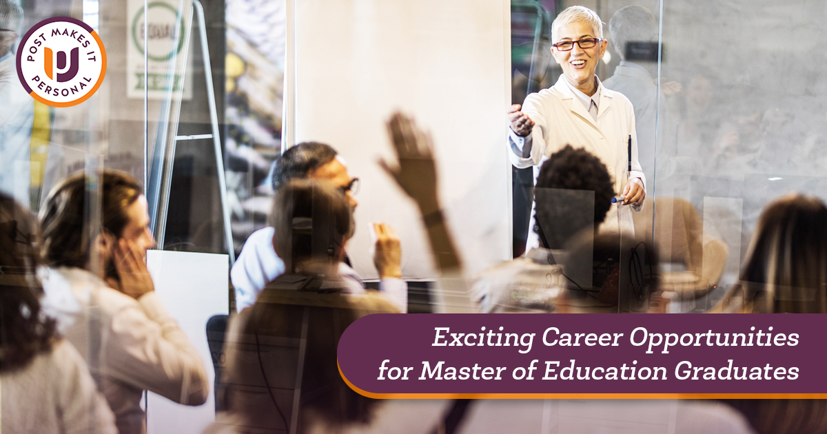 Exciting Career Opportunities for Master of Education Graduates