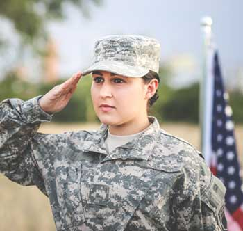 Solider Saluting