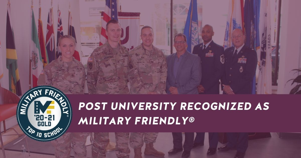 Post University Recognized as Military Friendly® By VIQTORY
