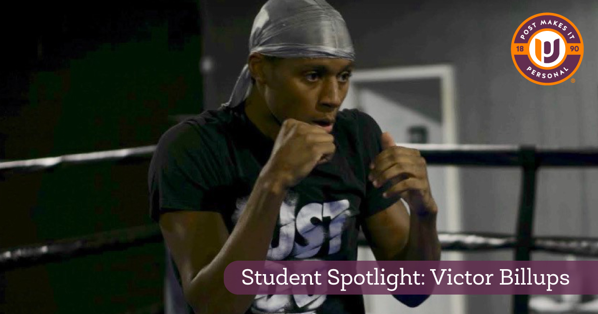 Student Spotlight: Victor Billups is a Golden Glove Champion