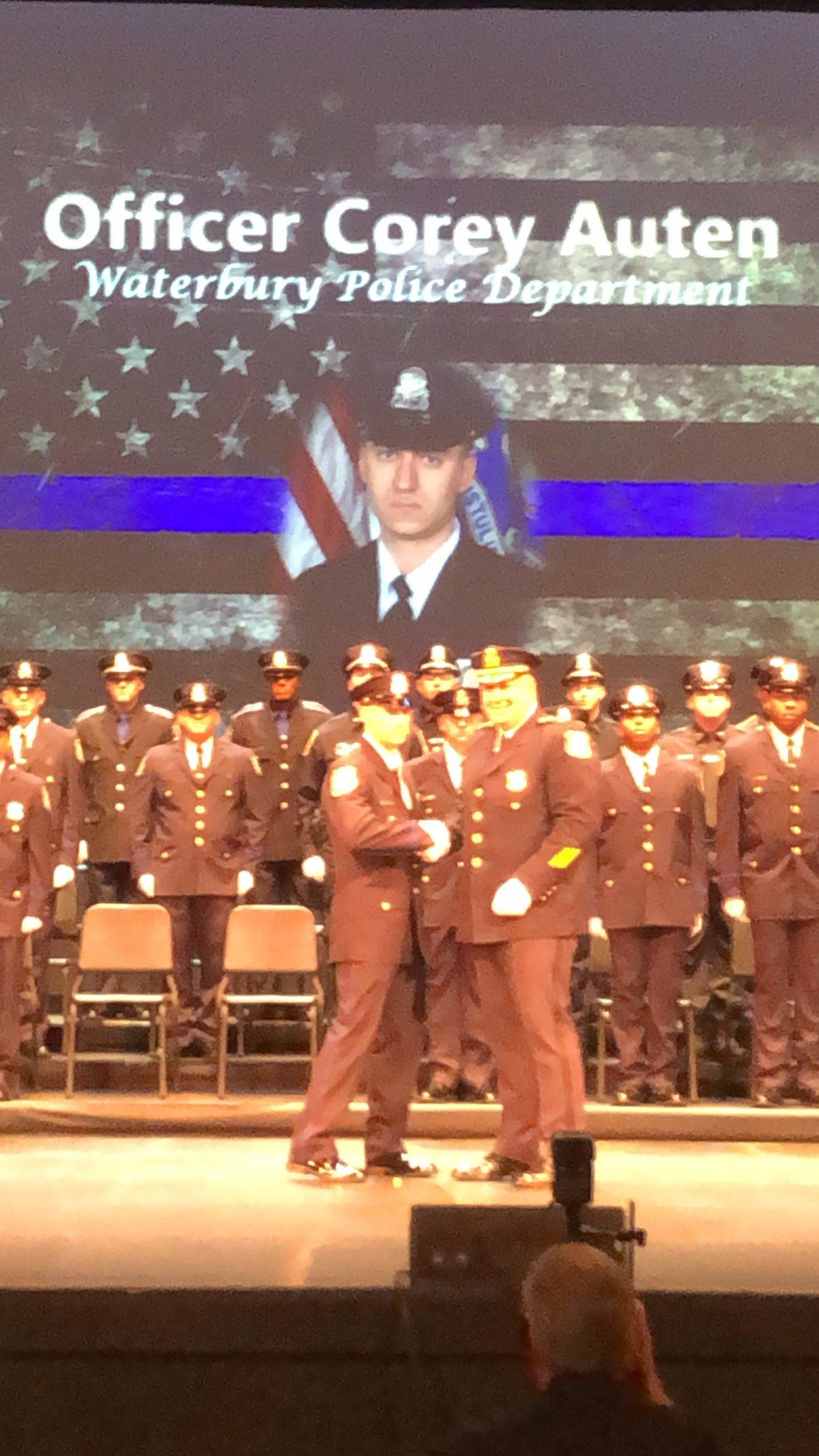 corey auten graduating from police academy