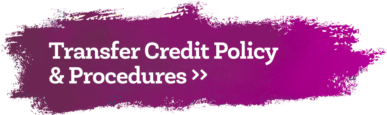 Transfer Credit Policy & Procedures