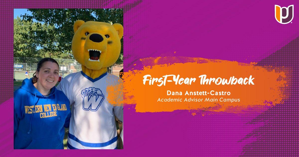 dana castro with mascot