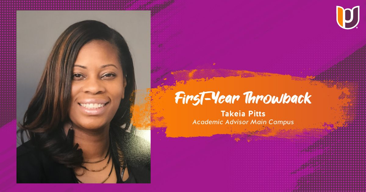 First Year Throwback – Takeia Pitts
