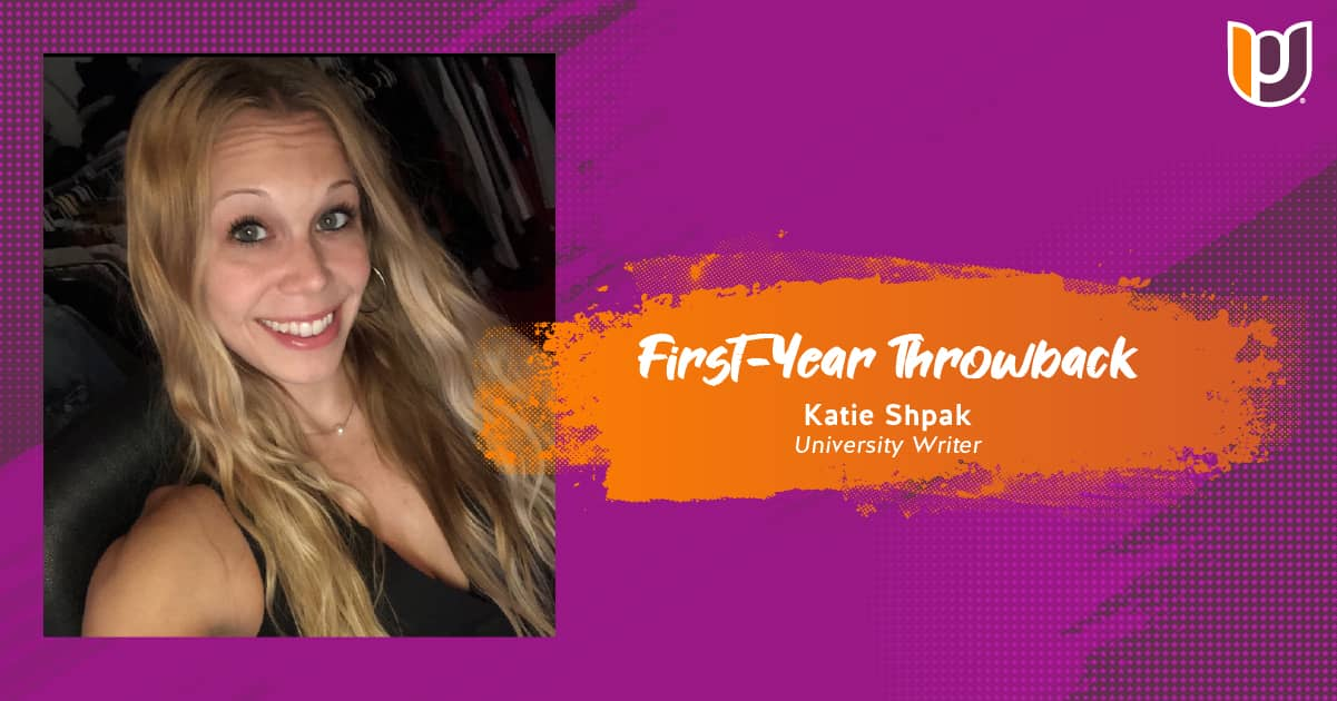 First Year Throwback – Katie Shpak