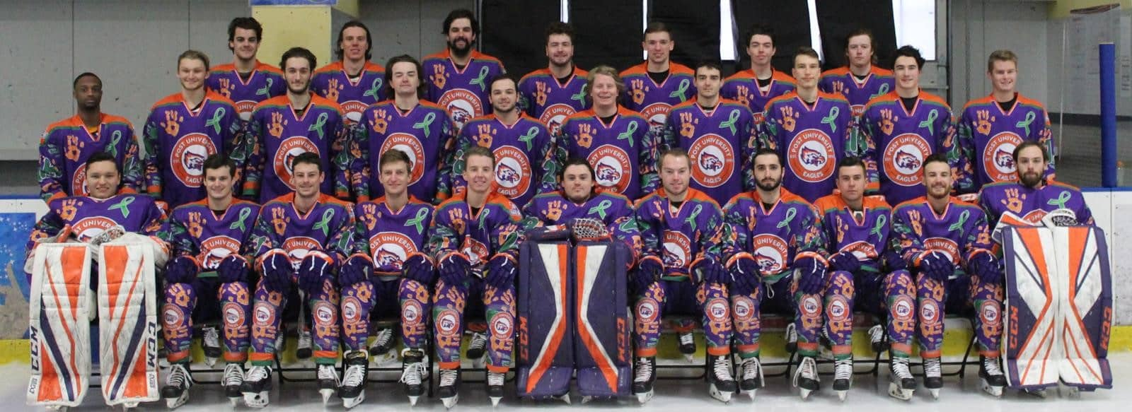 group photo of men's hockey team