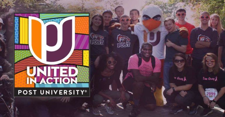 post's united logo with students in background