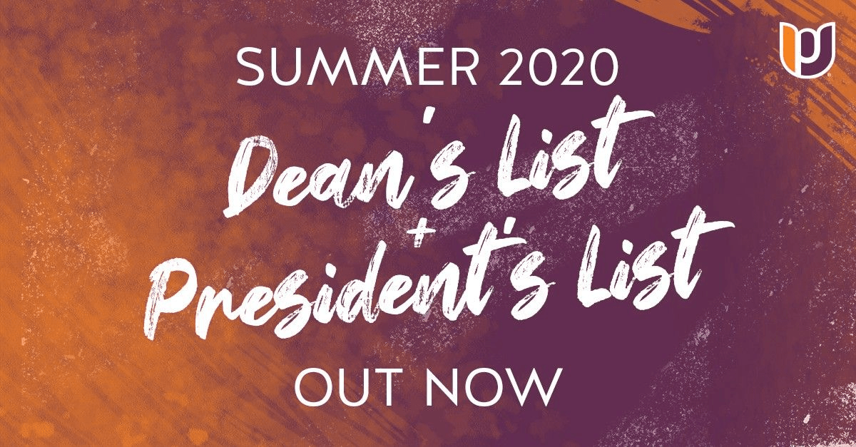 Dean's and President's List – Summer 2020