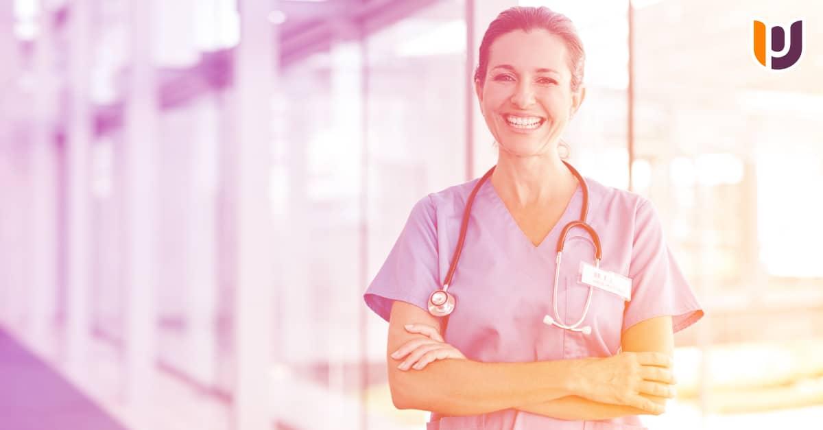 nurse in scrubs