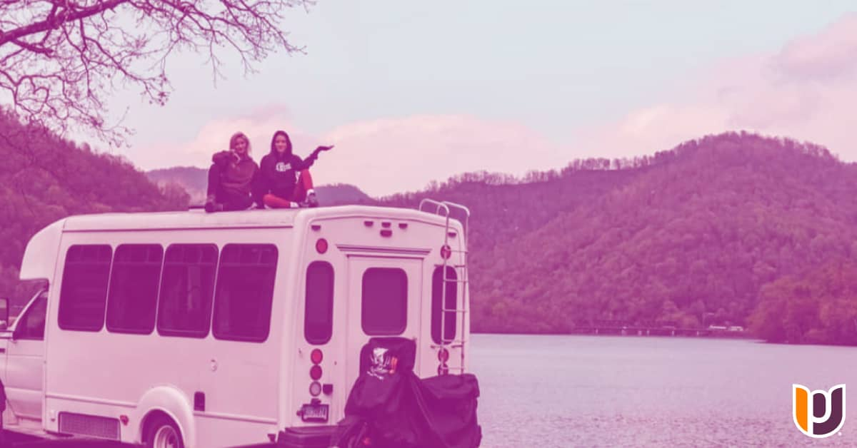 Post Alumna and Student Convert Bus to Travel the Country