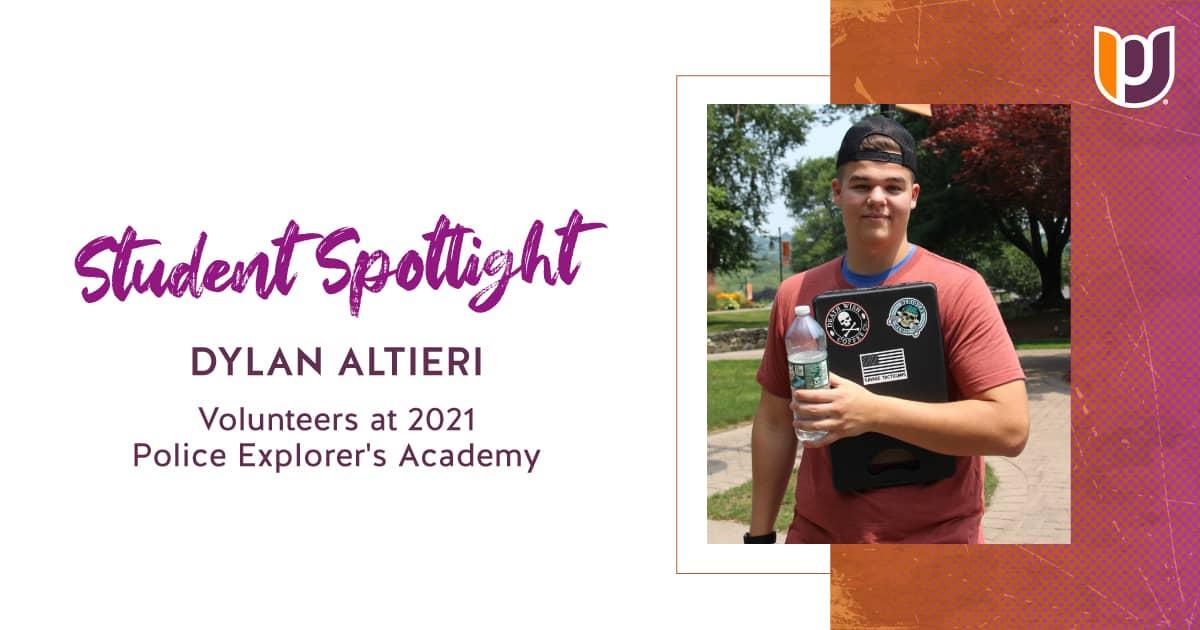 Student Spotlight: Dylan Altieri Volunteers at 2021 Police Explorer's Academy