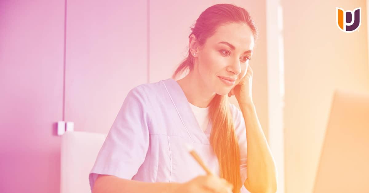 nurse researching