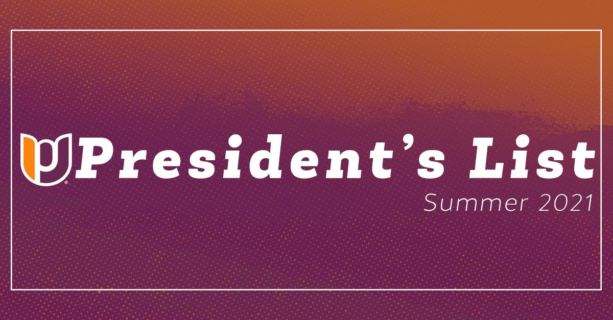 President's List – Summer 2021